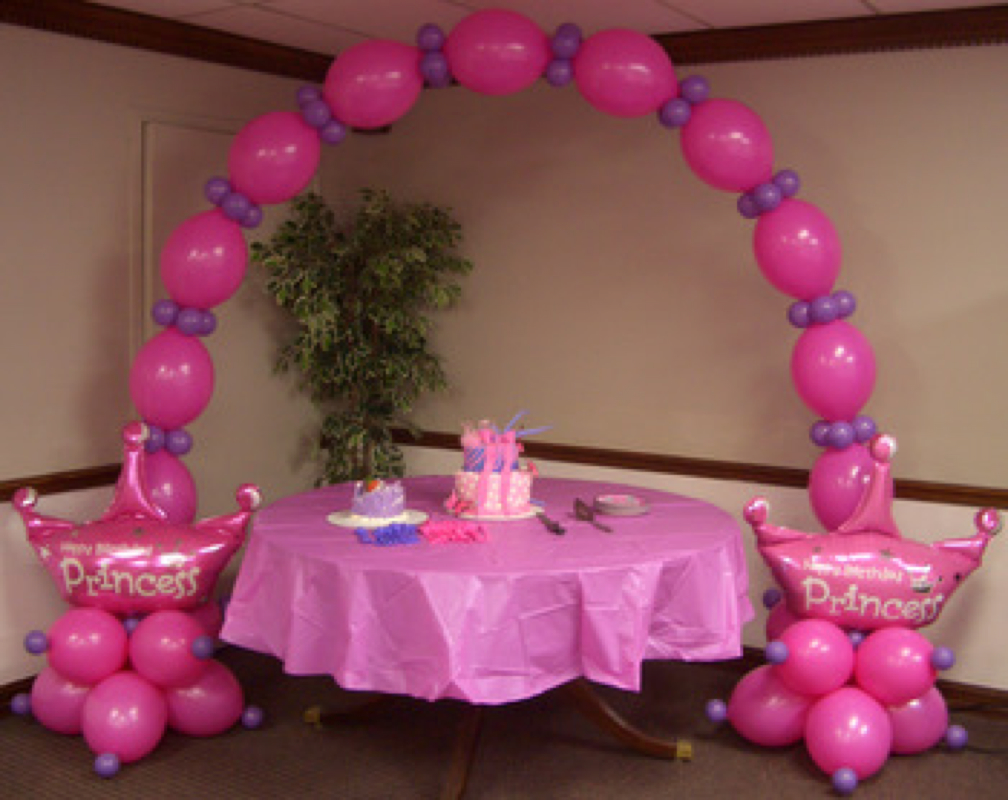 Balloon arches pg 1 party inc balloons for Balloon decoration for first birthday
